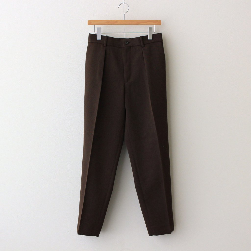 MARKAWARE|PLEATED FRONT PEGTOP #NATURAL BROWN [A21C-09PT01C]