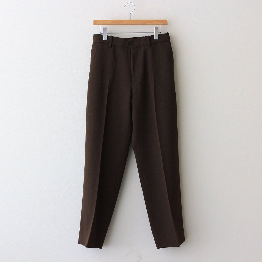 MARKAWARE|FLAT FRONT TROUSERS #NATURAL BROWN [A21C-09PT03C]