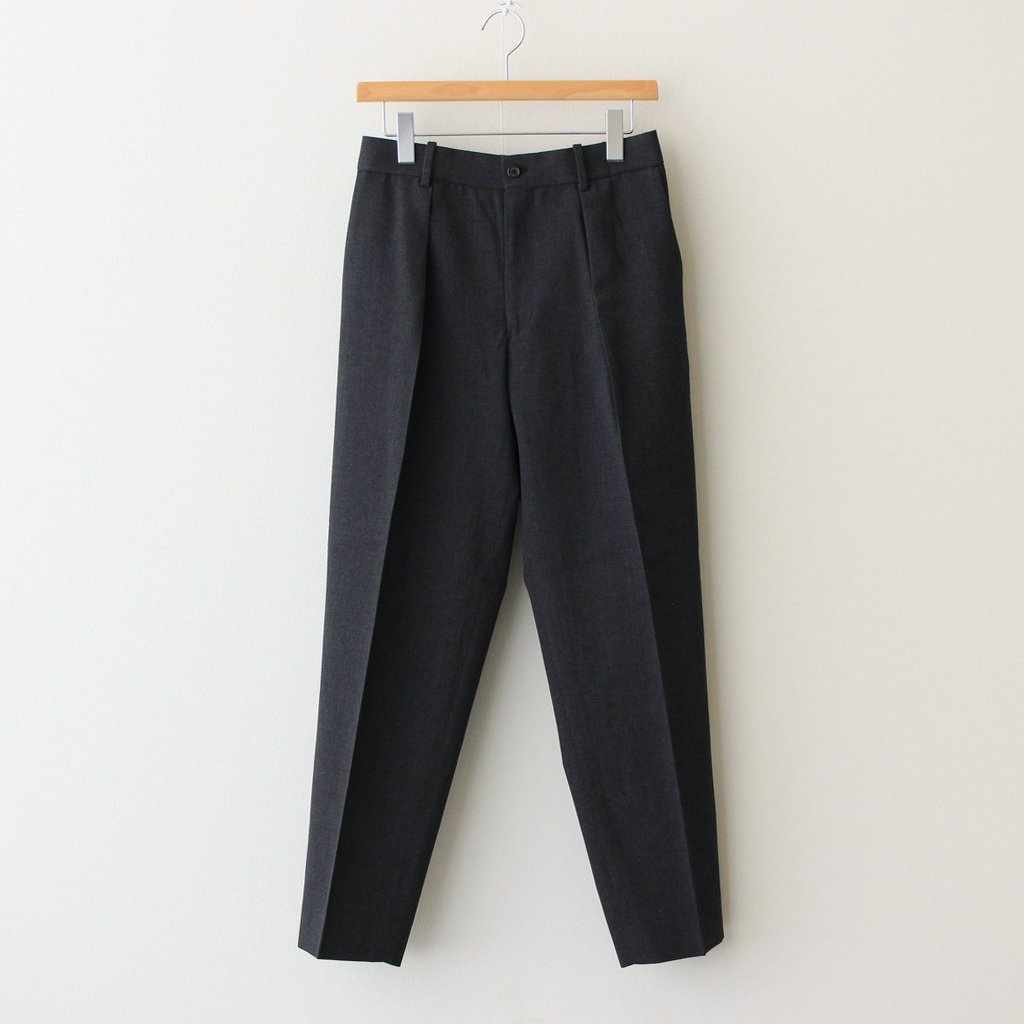 MARKAWARE PLEATED FRONT PEGTOP #CHARCOAL [A21C-05PT01C]