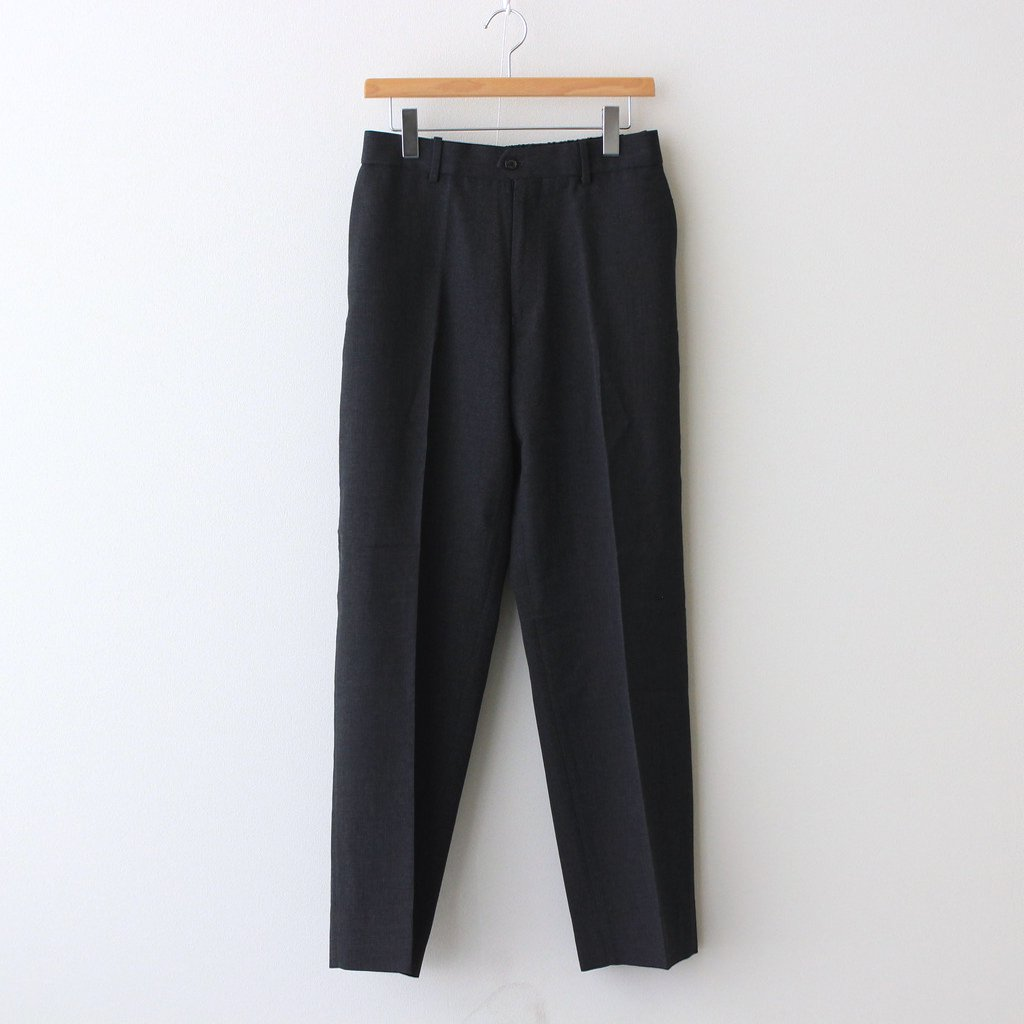 MARKAWARE|FLAT FRONT TROUSERS #CHARCOAL [A21C-05PT03C]