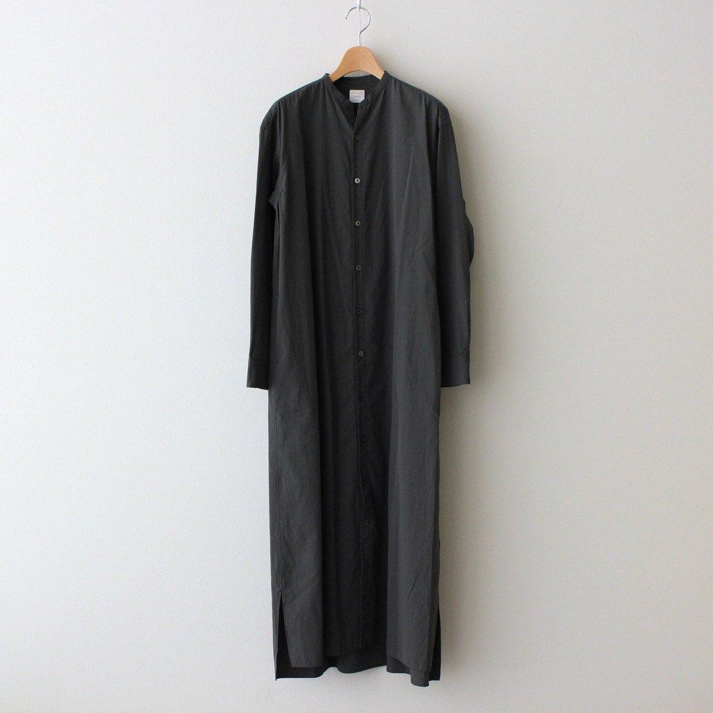 Phlannel STAND COLLAR SHIRT DRESS #KHAKI [BBZ1012309A0003]