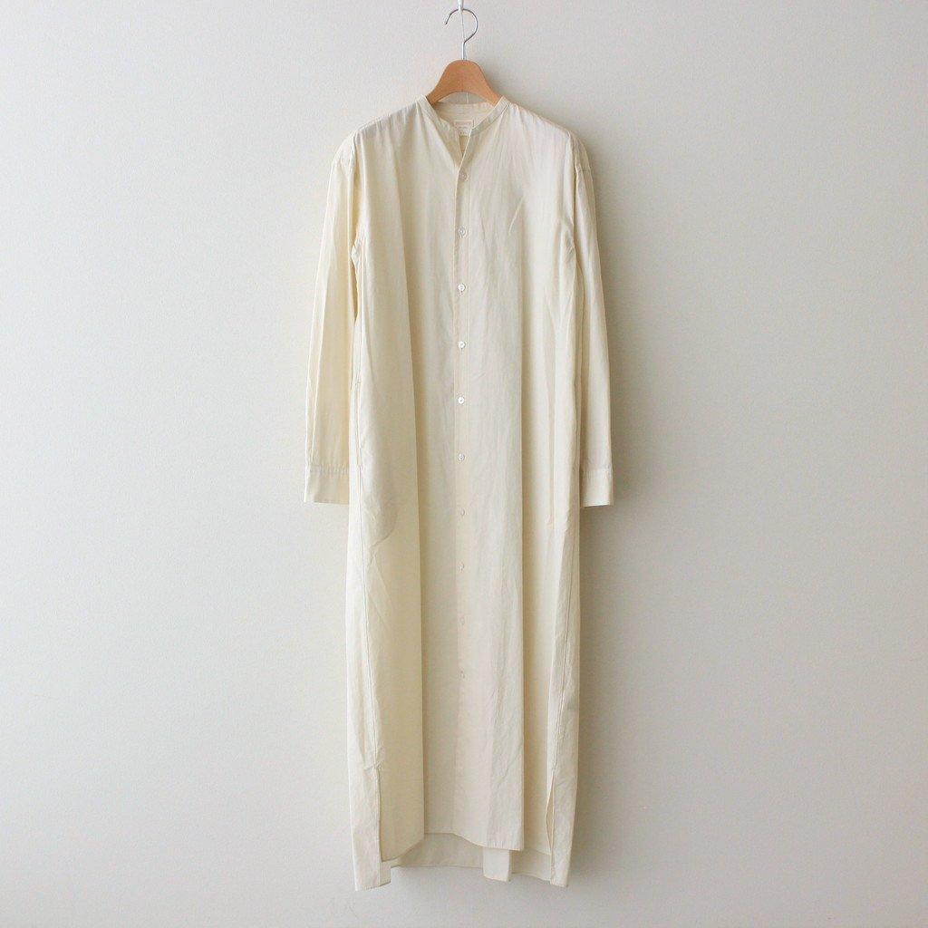 Phlannel|STAND COLLAR SHIRT DRESS #IVORY [BBZ1012309A0003]