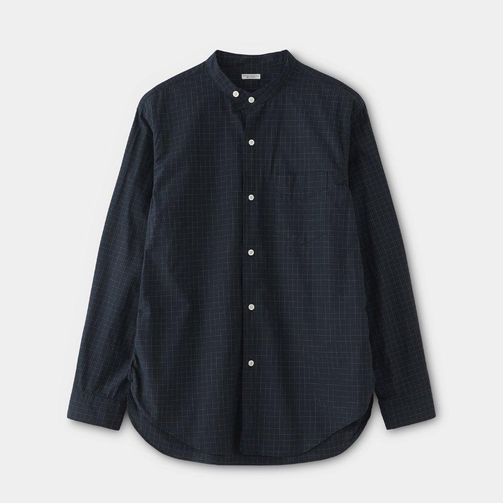 PHIGVEL MAKERS & Co.|BAND COLLAR DRESS SHIRT #BLACK WATCH [PMAM-LS02]