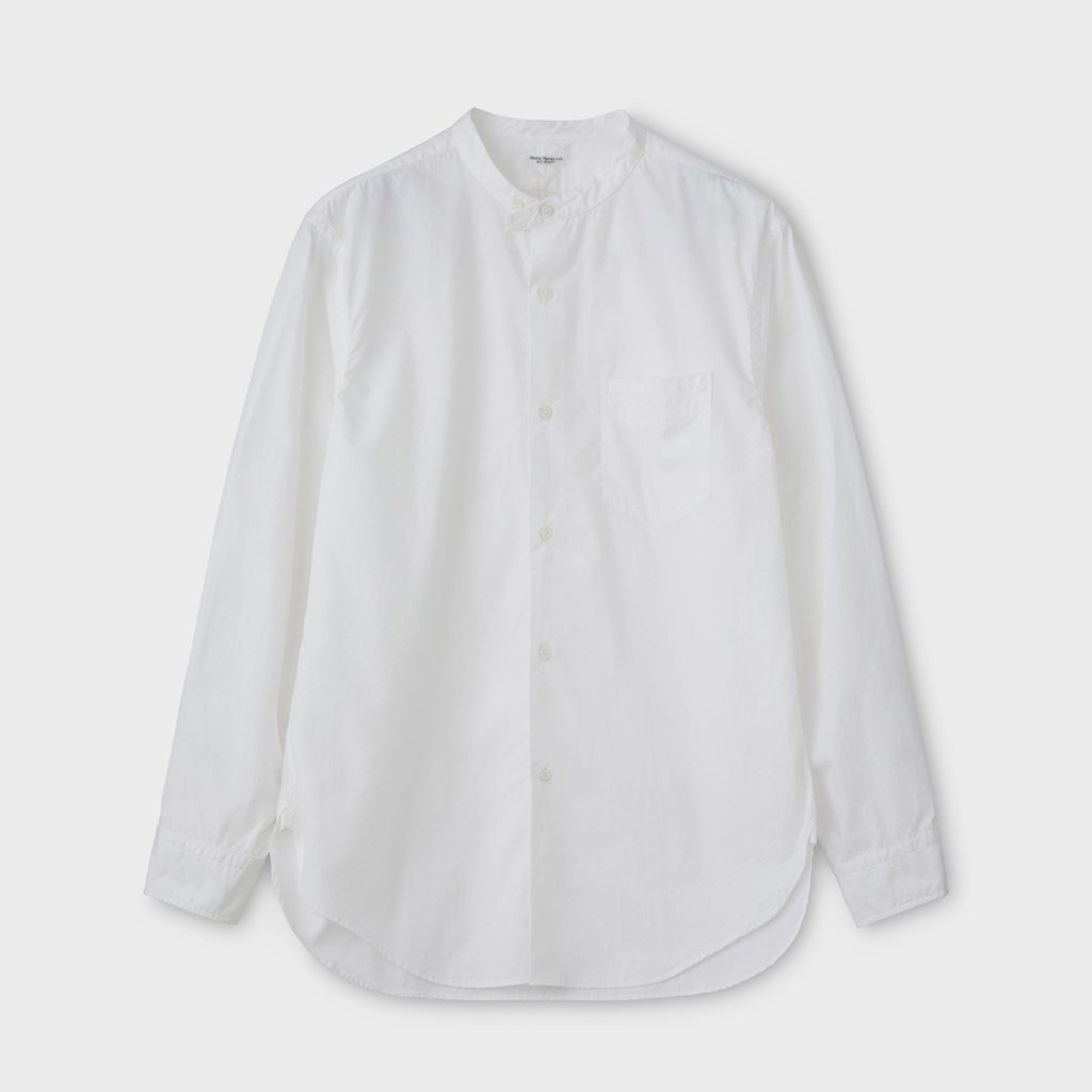 PHIGVEL MAKERS & Co.|BAND COLLAR DRESS SHIRT #OFF WHITE [PMAM-LS02]