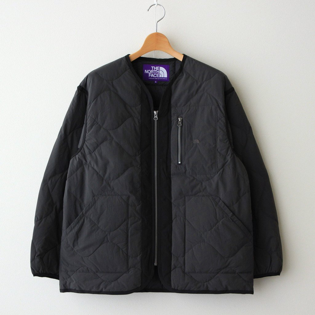 THE NORTH FACE PURPLE LABEL FIELD DOWN CARDIGAN #DIM GRAY [ND2153N]