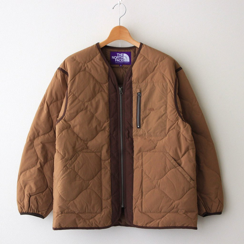THE NORTH FACE PURPLE LABEL FIELD DOWN CARDIGAN #COYOTE [ND2153N]