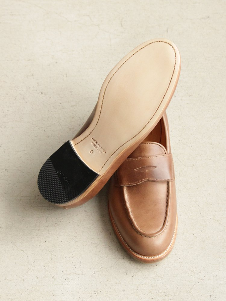 LEATHER&SILVER MOTO | モトレザー Coin Loafer(Horween Leather) #NATURAL
