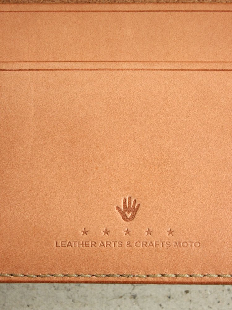 LEATHER&SILVER MOTO | モトレザー Card Case(Cow Leather) #BROWN