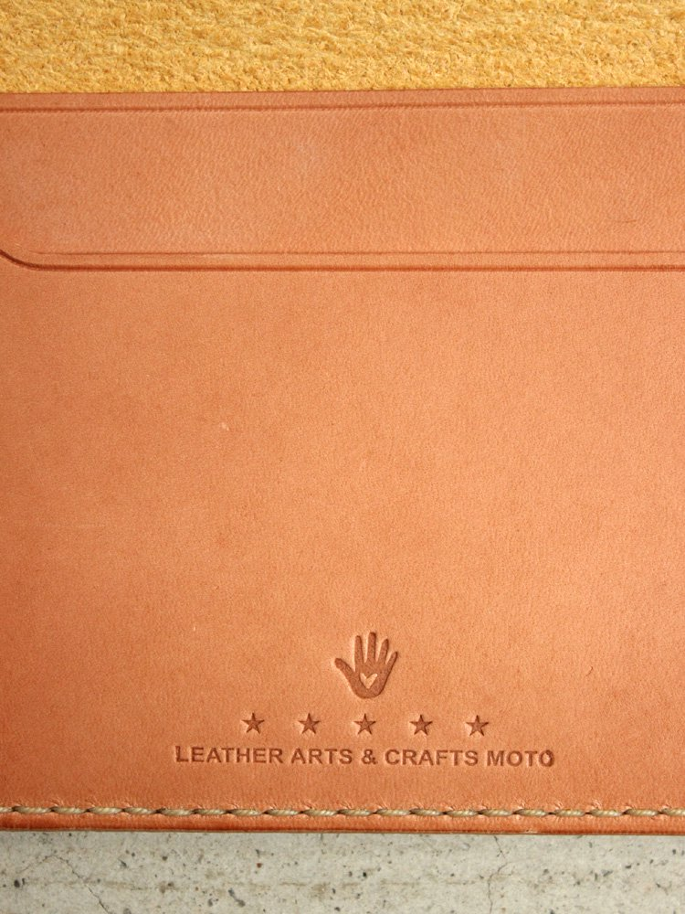 LEATHER&SILVER MOTO | モトレザー Card Case(Cow Leather) #YELLOW