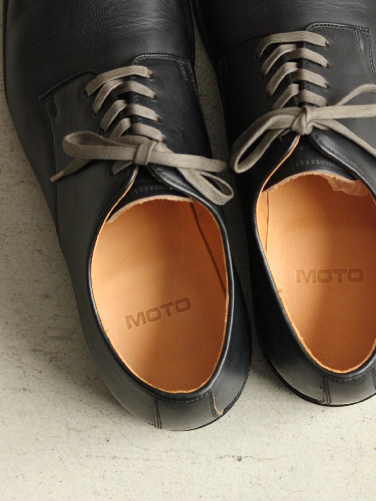 LEATHER&SILVER MOTO | モトレザー Plane Toe Oxford Shoes(Horween Leather) #BLACK