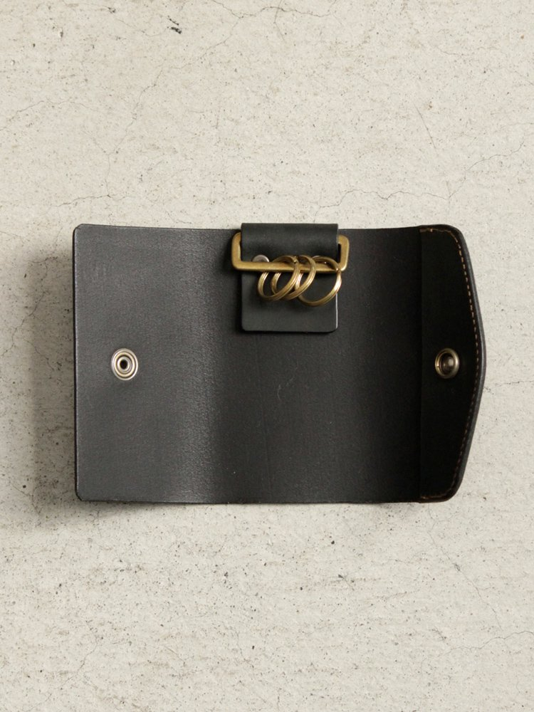 LEATHER&SILVER MOTO | モトレザー Key Case(Cow Leather) #BLACK