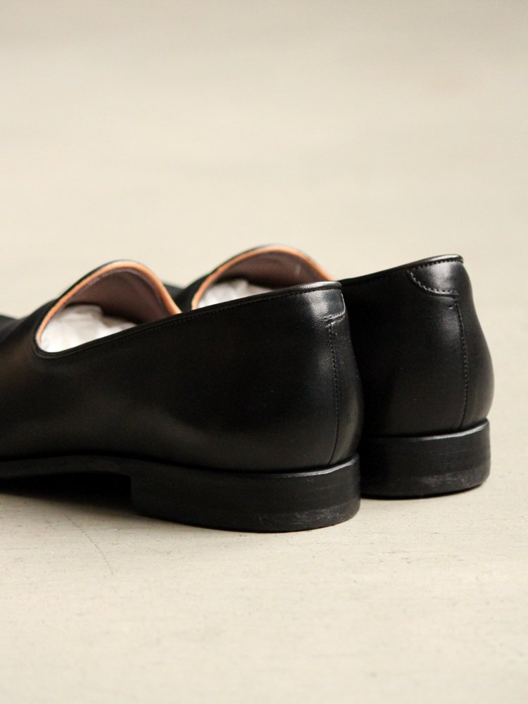 LEATHER&SILVER MOTO | モトレザー Slip-on(Cow Leather) #BLACK
