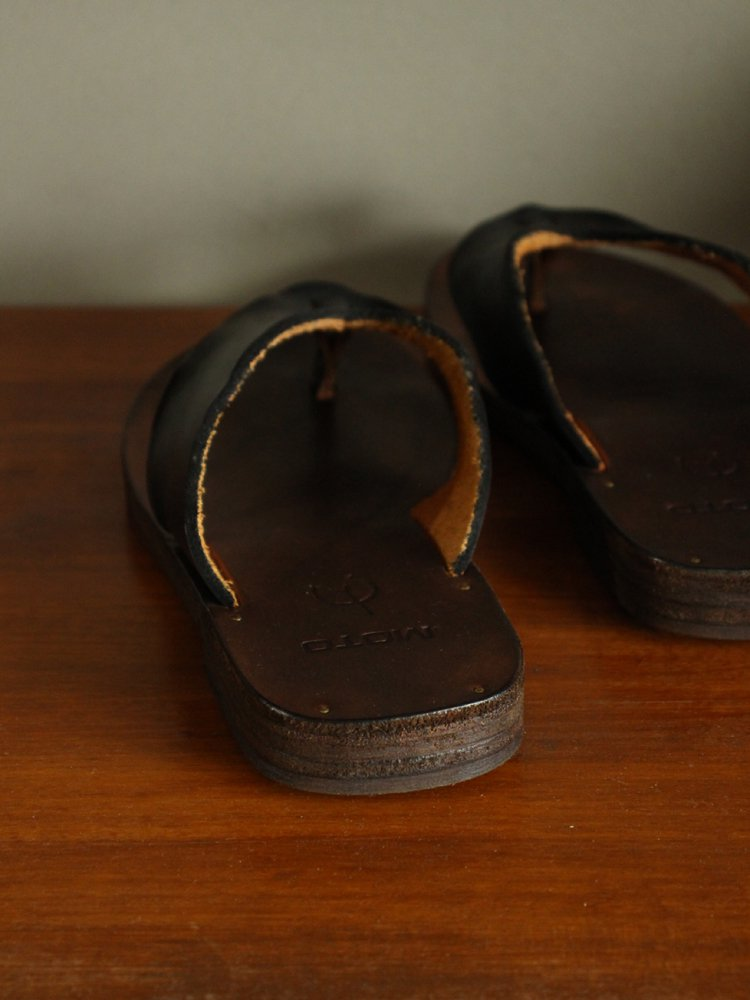 Thong Sandal(Cow Leather) #BLACK