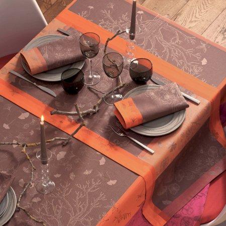 【撥水GS】テーブルランナー ポエツリー フクシア