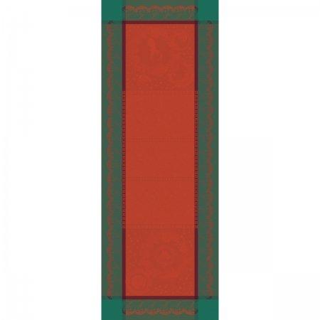 【撥水GS】テーブルランナー クリスマスフォレスト レッド