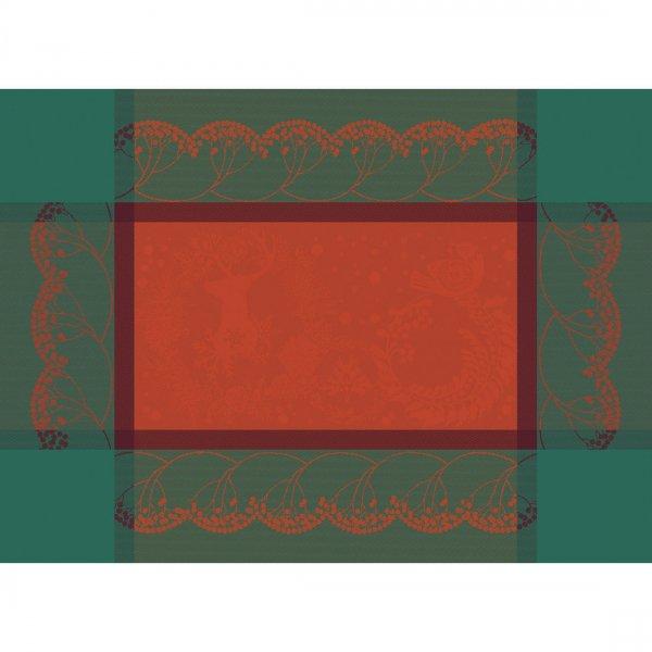 【撥水GS】ランチョンマット クリスマスフォレスト レッド (2枚セット)<img class='new_mark_img2' src='https://img.shop-pro.jp/img/new/icons59.gif' style='border:none;display:inline;margin:0px;padding:0px;width:auto;' />
