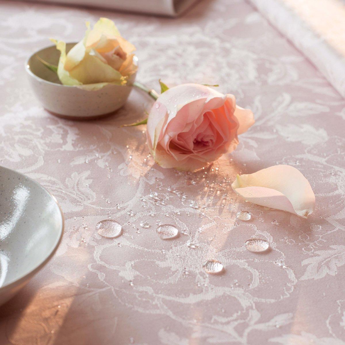 【撥水コート】テーブルクロス ミルシャルム ピンク