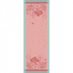 【撥水GS】テーブルランナー コーラル ピンク