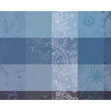 【撥水コート】ランチョンマット ミルカラー ブルー (4枚セット)