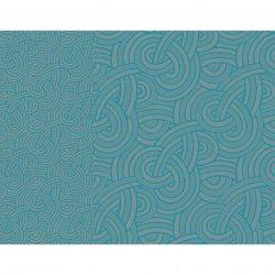 【撥水GS】ティーマット デザイン ブルー(4枚セット)