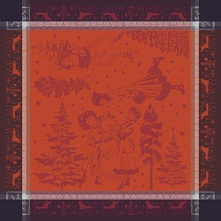 ナプキン クリスマスキャロル ボルドー(4枚セット)