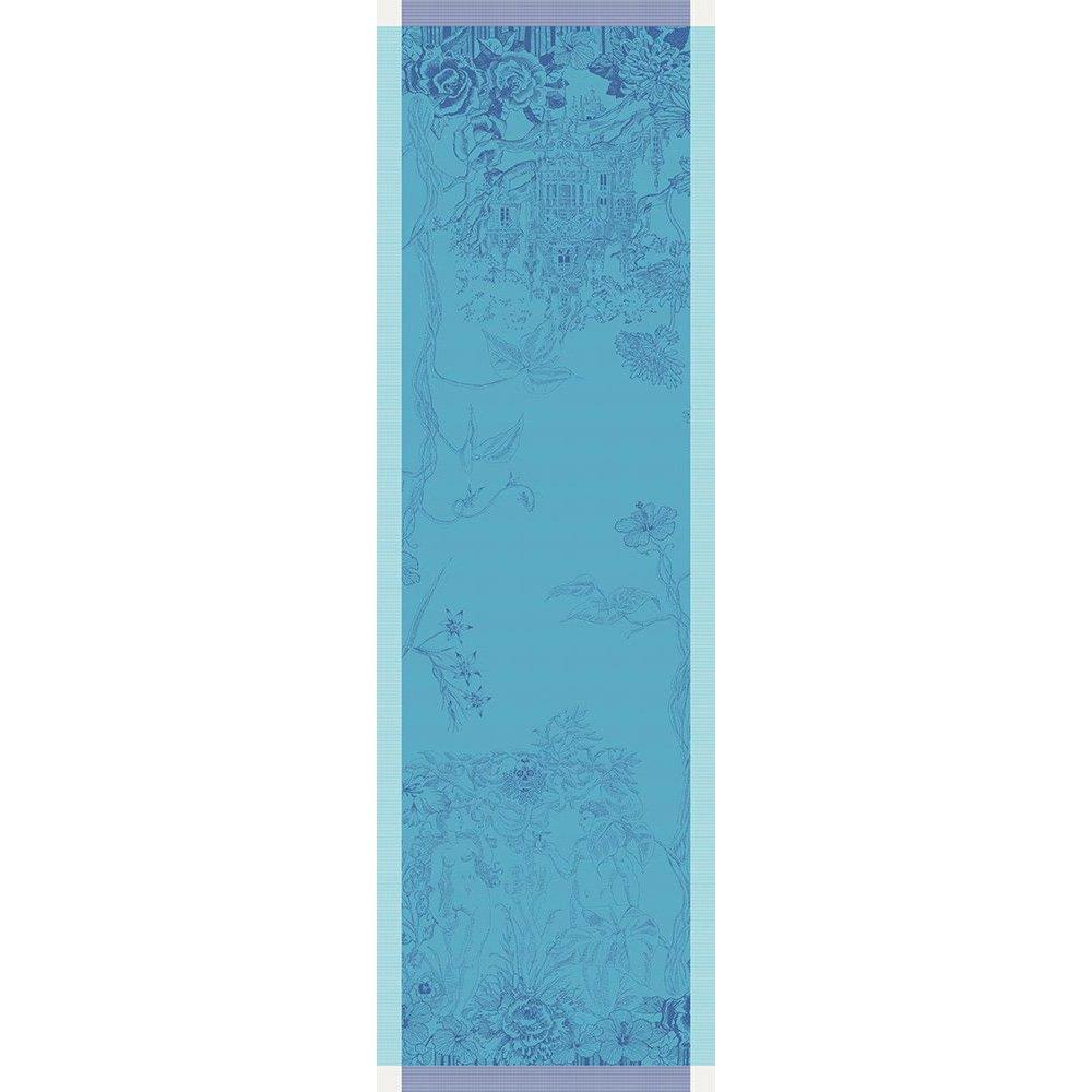 【撥水GS】テーブルランナー パラダイス ブルー(リバーシブル)