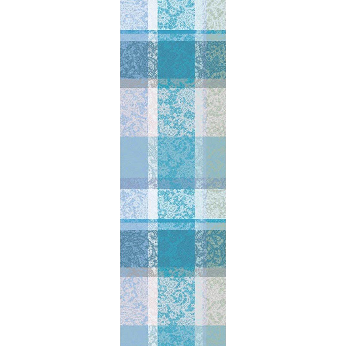ガルニエティエボー 【撥水コート】テーブルランナー ミルダンテル ターコイズ