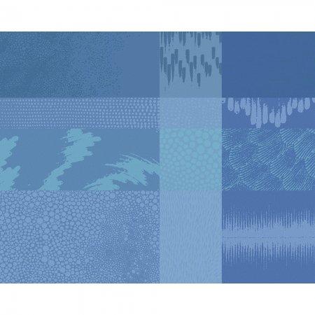 【撥水コート】ランチョンマット ミルマティエール ブルー (4枚セット)