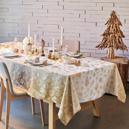 テーブルクロス(撥水なし) ミルメリー ゴールド