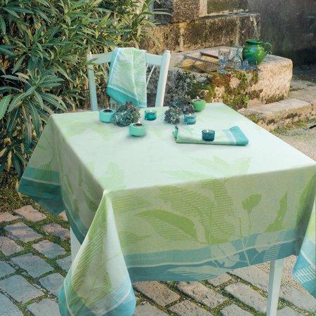 テーブルクロス(撥水なし) リヴィア クロロフィル