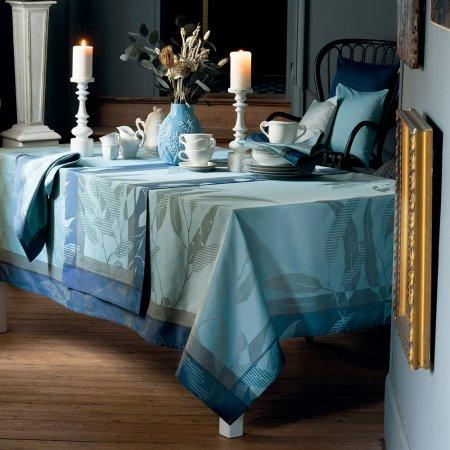 テーブルクロス(撥水なし) リヴィア ブルーグレー
