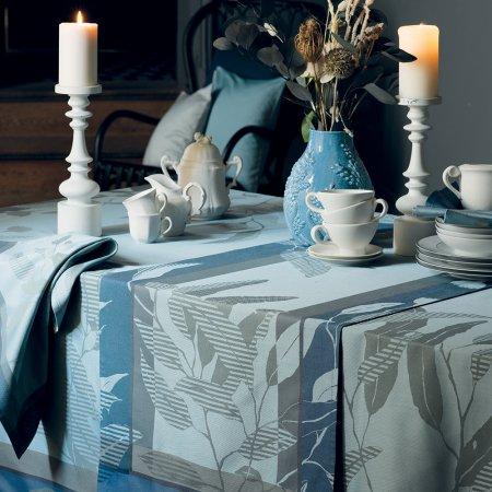 テーブルランナー(撥水なし) リヴィア ブルーグレー