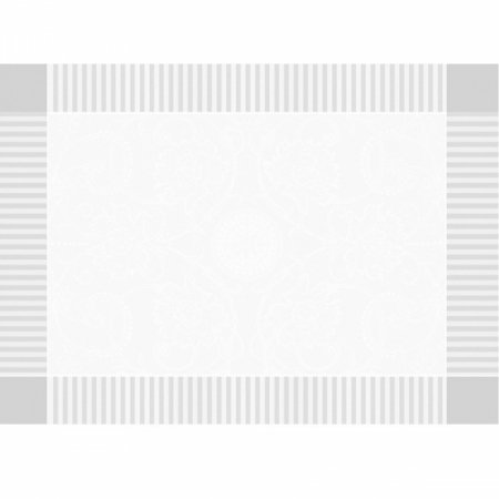 【撥水GS】ランチョンマット アポリーヌ ホワイト (4枚セット)