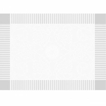 【撥水GS】ランチョンマット アポリーヌ ホワイト(4枚セット)