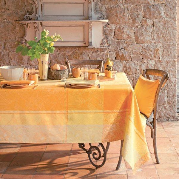 ガルニエティエボー テーブルクロス(撥水なし) ミルオワゾー レモン