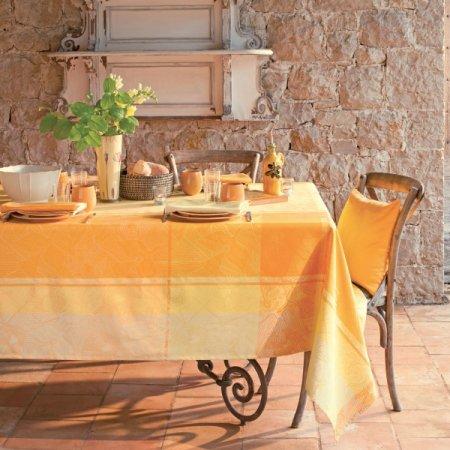 テーブルクロス(撥水なし) ミルオワゾー レモン