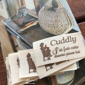 (co-923) 10枚 Cuddly sewing ナチュラル タグ セット