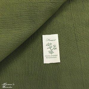 (cp-106) 1m 手染め あずみ野木綿 緑 うぐいす 綿100% はぎれ 生地