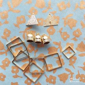 (cp-274) 12個 四角形 大小 三角形 タッセル ゴールド アクセサリー セット
