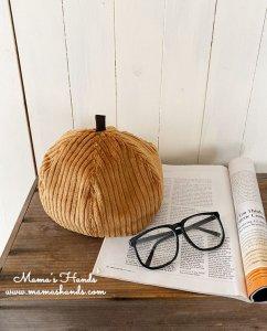 (cp-527)  おしゃれ 厚手 コーデュロイ 綿100% かぼちゃ ベレー 帽子(ハンドメイド)