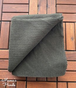 (cp-721) 73x100 カーキ ウール 中厚 ストライプ織 良品質 はぎれ 生地