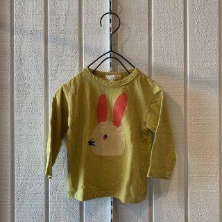 nini  うさぎTシャツ マスタード48