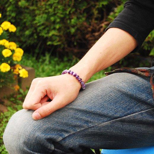 【魅力を引き出す調和と癒しのエネルギー】アメジスト×クリスタルクォーツ 天然石パワーストーンブレス詳細2