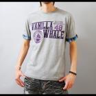 【斬新なチェック見せで新たなTシャツスタイルを】袖裏チェック使い・ロールアップ メンズ五分袖Tシャツ