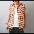 【夏スタイルを彩る鮮やかなオンブレーチェック!】オンブレーチェック・メンズウエスタン半袖シャツ