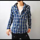 【クールで清潔感ある印象を引き出すブルーでキメる!】リンクルウォッシュ・メンズウエスタンシャツ