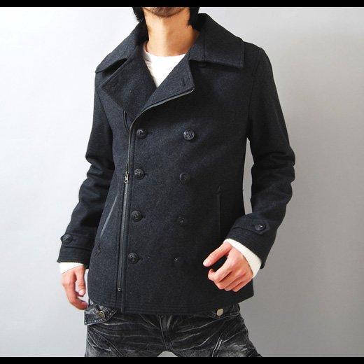 【魅せる冬のコートスタイルを作るスタイリッシュな1着】ウールメルトン・ZIPアレンジショートPコート