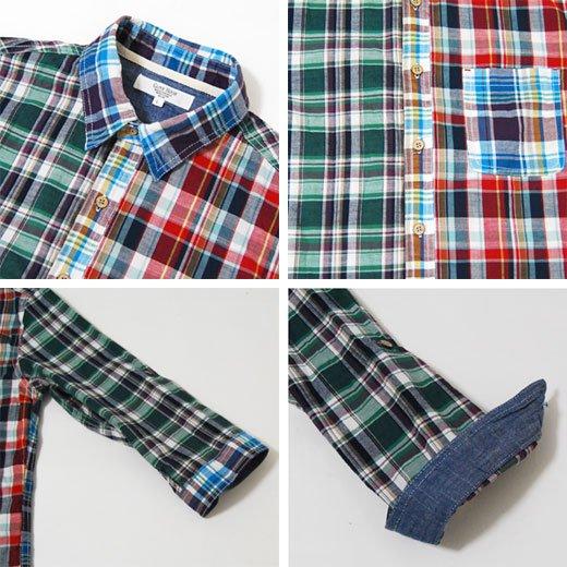 【スタイリングを個性的で華やかなインパクトある印象に♪】クレイジーパターン・七分袖チェックシャツ詳細3