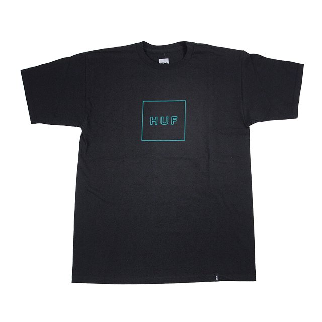 "HUF "" BOX LOGO S/S TEE "" BLACK"