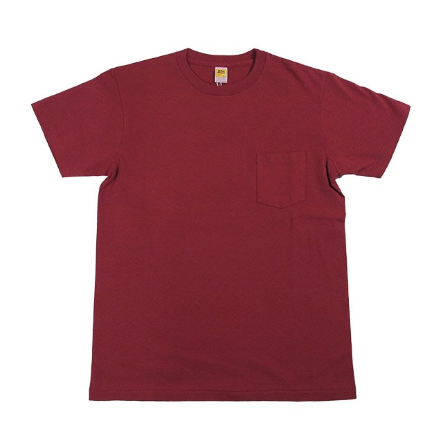 M.V.P. x VELVA SHEEN POCKET TEE BURGUNDY